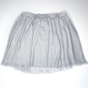 Pimkie Pale Gray Pleated Skirt EUC